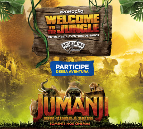 Promoção Rock & Ribs Welcome To The Jungle