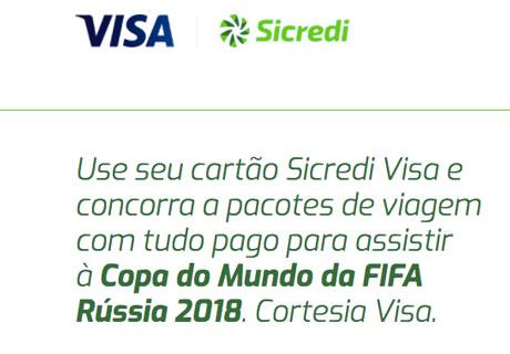 Promoção Juntos na Rússia com seu Cartão Sicredi Visa