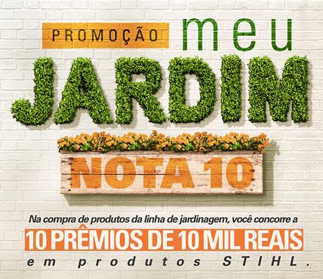 Promoção Stihl Meu Jardim Nota 10