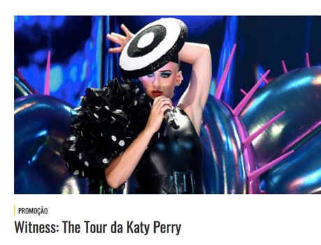 Promoção Mix FM Witness The Tour da Katy Perry