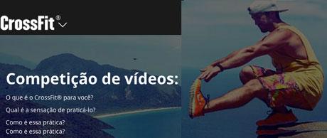 Promoção Competição de vídeos do CrossFit Inc. 2018 Brasil