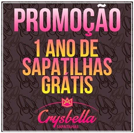 Promoção Crysbella 1 Ano de Sapatilhas Grátis