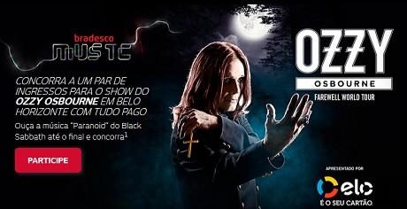 Promoção Bradesco Music & Elo Ozzy Osbourne em BH