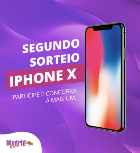 Promoção Madrid Center Concorra a Iphone X