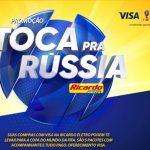 Promoção Ricardo Eletro e Visa Toca Pra Rússia