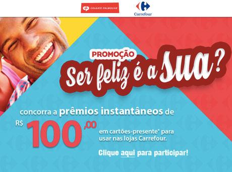 Promoção Colgate-Palmolive e Carrefour Ser feliz é a sua?