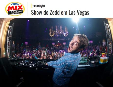 Promoção Mix FM Show do Zedd em Las Vegas