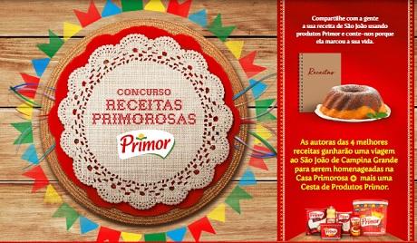 Promoção Primor Receitas Primorosas