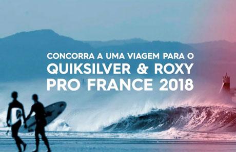 Promoção Concorra a Uma Viagem para o Quiksilver e Roxy Pro France 2018