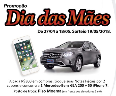 Promoção Dia das Mães Ibirapuera