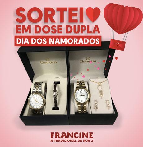 Promoção Francine Dia dos Namorados Em Dose Dupla