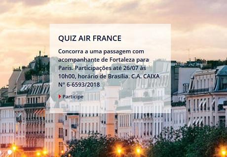 Promoção Fortaleza – Paris com a Air France