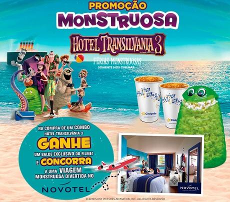 Promoção Cinépolis Monstruosa Hotel Transilvânia 3