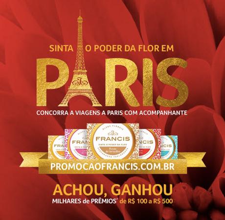PromoçãoFrancis Sinta O Poder da Flor em Paris