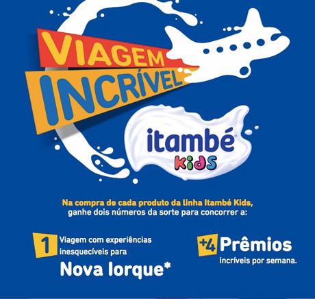 Promoção Viagem Incrível Itambé Kids