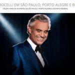 Promoção Antena 1 Andrea Bocelli Em São Paulo, Porto Alegre e Brasília