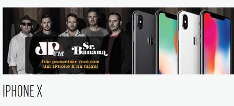 Promoção Jovem Pan Iphone X