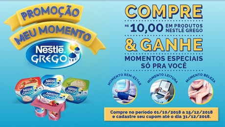 Promoção Meu Momento Nestle Grego