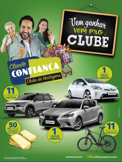 Promoção Clube de Vantagens Cliente Confiança