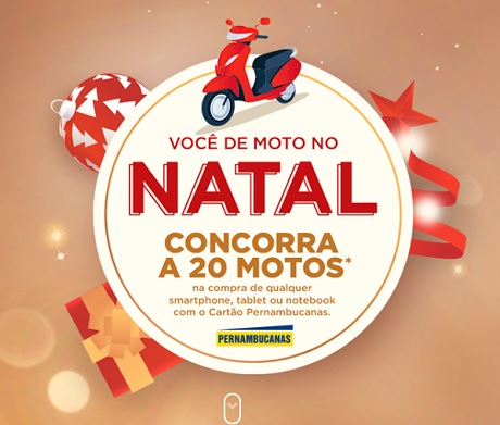 Promoção Pernambucanas Você de Moto no Natal