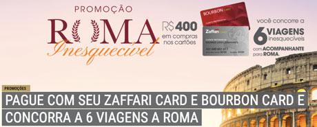 Promoção Bourbon Cartões Roma Inesquecível