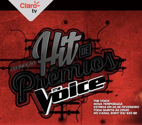 Promoção Claro TV Hit de Prêmios The Voice