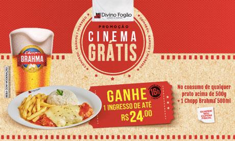 Promoção Divino Fogão Cinema Grátis