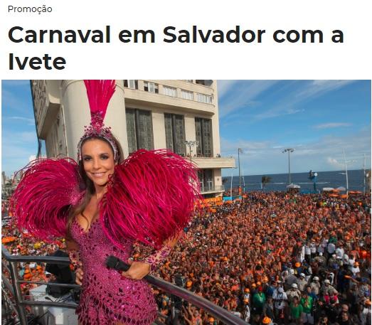 Promoção Mix FM Carnaval em Salvador com a Ivete