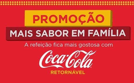 Promoção Coca-Cola Mais Sabor em Família