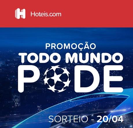 Promoção Hotéis.com Todo Mundo Pode Champions League