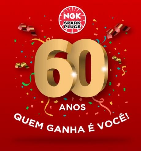 Promoção NGK 60 Anos Quem Ganha É Você