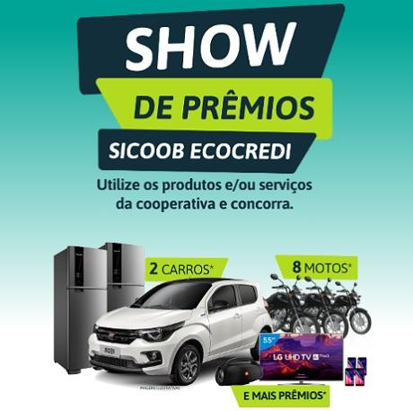 Promoção Show de Prêmios Sicoob Ecocredi