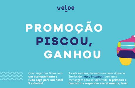 Promoção Veloe Piscou Ganhou