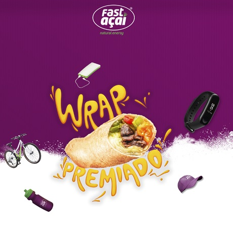 Promoção Fast Açaí Wrap Premiado
