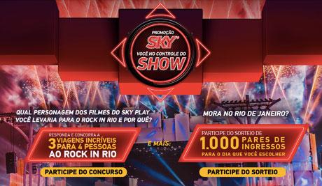 Promoção Sky Você No Controle Do Show