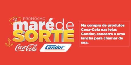 Promoção Condor e Coca-Cola Maré de Sorte