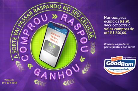 Promoção GoodBom Supermercados Raspou, Achou, Ganhou
