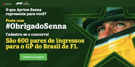 Promoção Heineken Mostre Seu Obrigado Ao Senna
