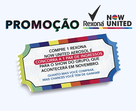 Promoção Rexona Now United