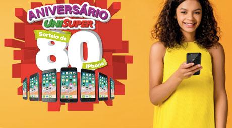 Promoção Aniversário Unisuper Sorteio de 80 Iphone