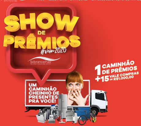 Promoção Show de Prêmios Sóbrancelhas