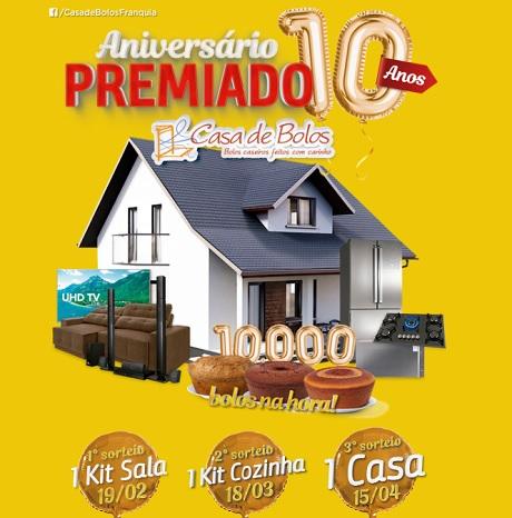 Promoção Aniversário Premiado Casa de Bolos
