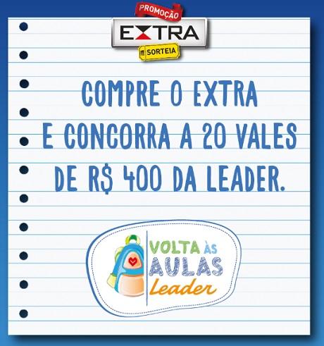Promoção Extra Sorteia Leader