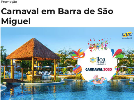 Promoção Mix FM Carnaval em Barra de São Miguel