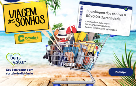 Promoção Viagem dos Sonhos Covabra Supermercados